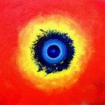 cosmic eye - 80x100cm, mixed media/canvas