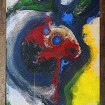 vogelfrau - 70x110cm/1996