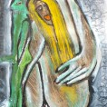 on her green side 30x40cm 2011